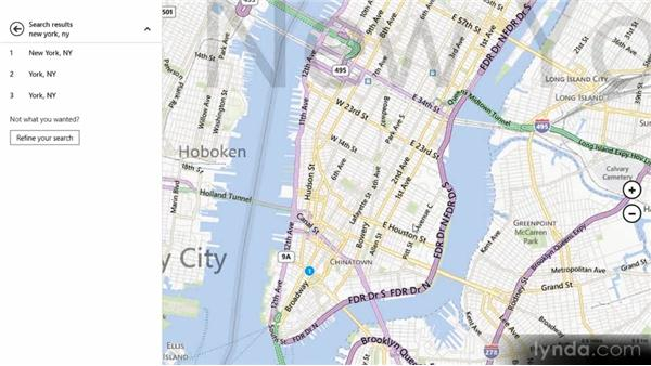 Finding places with Maps: Up and Running with Windows 8