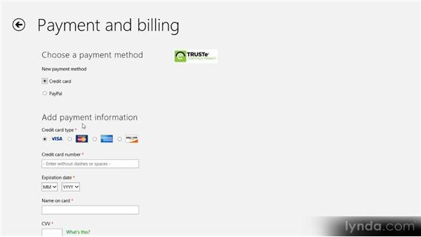 Purchasing applications: Up and Running with Windows 8