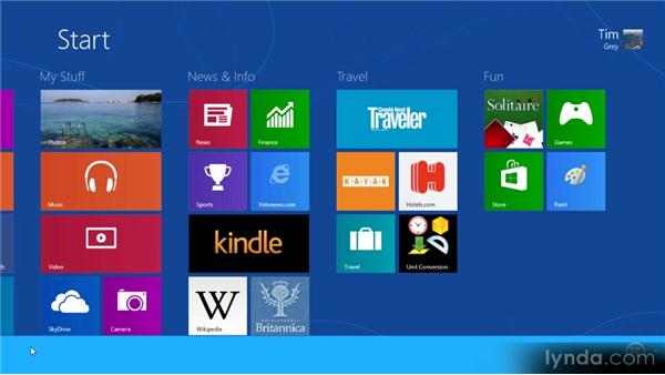 Unpinning or removing applications: Up and Running with Windows 8