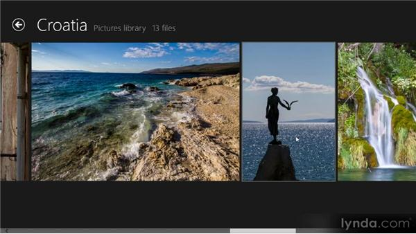 Working with photos: Up and Running with Windows 8