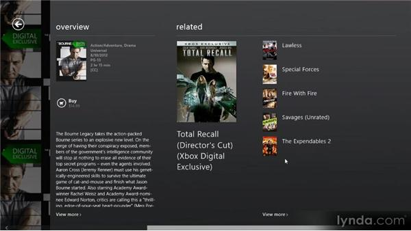 Watching movies and TV shows: Up and Running with Windows 8