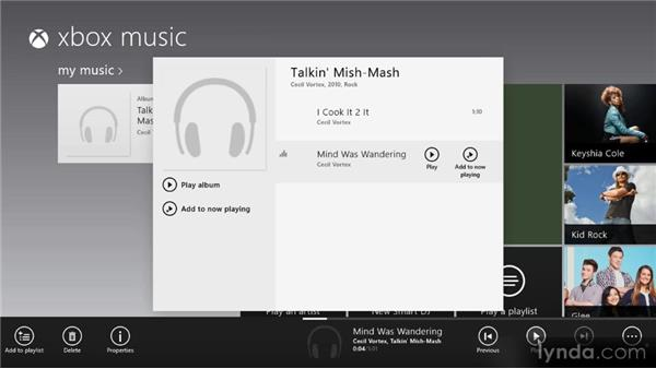 Playing music: Up and Running with Windows 8