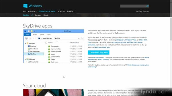 Sharing with SkyDrive: Up and Running with Windows 8