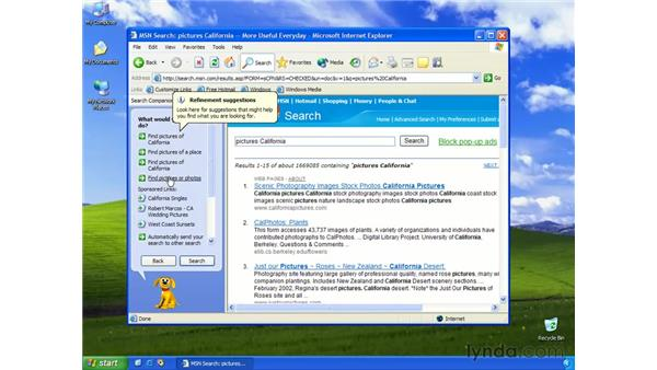 search companion: Learning Internet Explorer 6