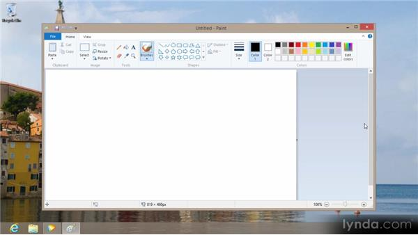 Using desktop applications: Up and Running with Windows 8