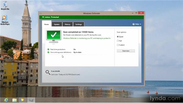 Protecting your PC with Windows Defender: Up and Running with Windows 8
