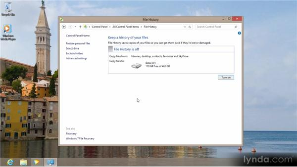 Backing up your files: Up and Running with Windows 8