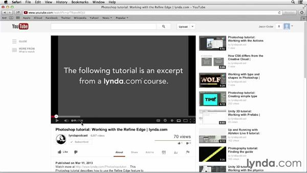 Watching videos: YouTube Essential Training