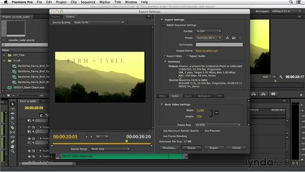 Exporting from Adobe Premiere Pro CS6: YouTube Essential Training