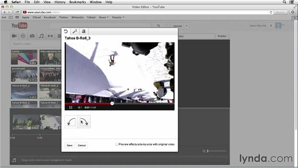 Using the YouTube video editor: YouTube Essential Training