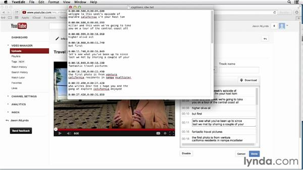 Adding captions and subtitles: YouTube Essential Training
