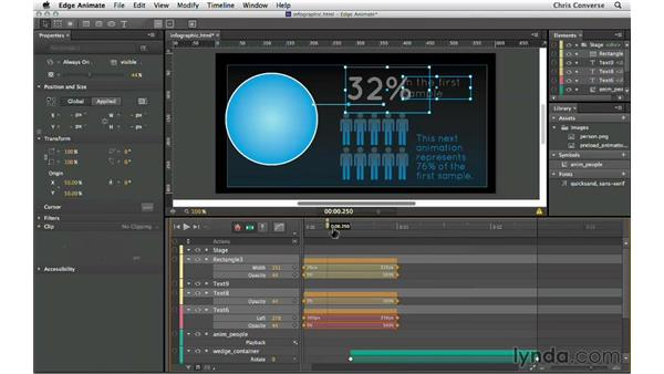 Animating the text and rule: Creating an Animated Infographic with Edge Animate