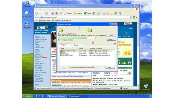 synchronizing offline pages: Learning Internet Explorer 6
