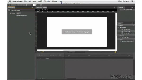 Creating a down-level stage and preloader: Creating an Animated Infographic with Edge Animate