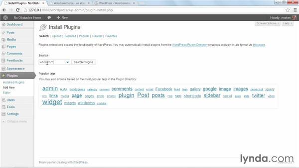 Getting and installing WooCommerce: WordPress Ecommerce: WooCommerce