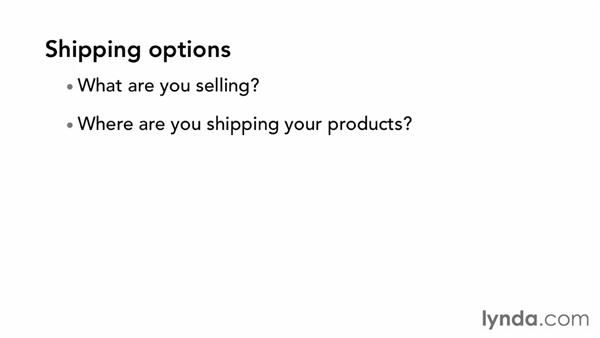 Deciding on shipping options: WordPress Ecommerce: WooCommerce