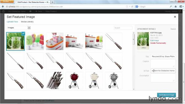 Adding images to a product: WordPress Ecommerce: WooCommerce (2013)