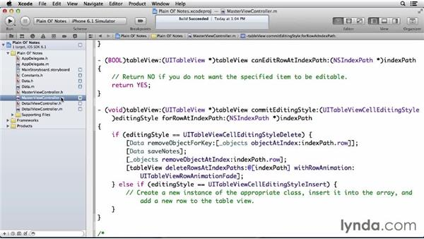 Understanding class structure for this app: Developing for the Apple iCloud API with iOS (2013)
