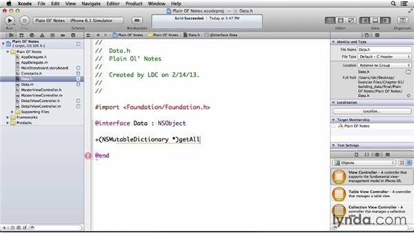 Building the data model and constants: Developing for the Apple iCloud API with iOS (2013)