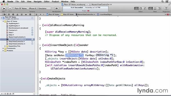 Adding notes: Developing for the Apple iCloud API with iOS (2013)