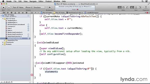 Displaying and saving notes: Developing for the Apple iCloud API with iOS (2013)