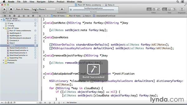 Adding notes when cloud data is found: Developing for the Apple iCloud API with iOS (2013)