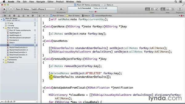 Handling deleted notes: Developing for the Apple iCloud API with iOS (2013)