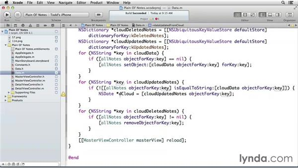 Handling updated notes: Developing for the Apple iCloud API with iOS (2013)