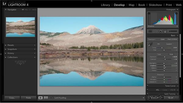 Adding contrast and detail with tonal adjustments: Enhancing a Landscape Photo with Lightroom
