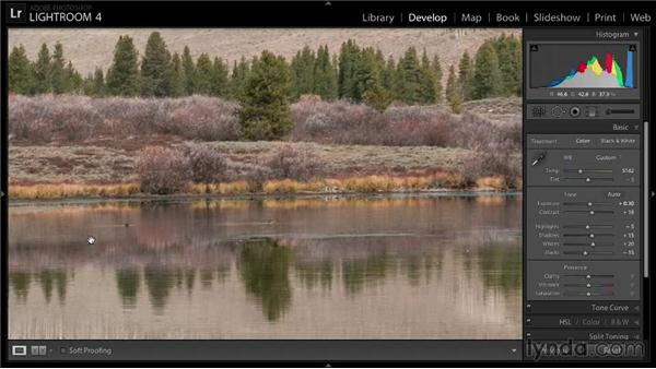Increasing image intensity: Enhancing a Landscape Photo with Lightroom