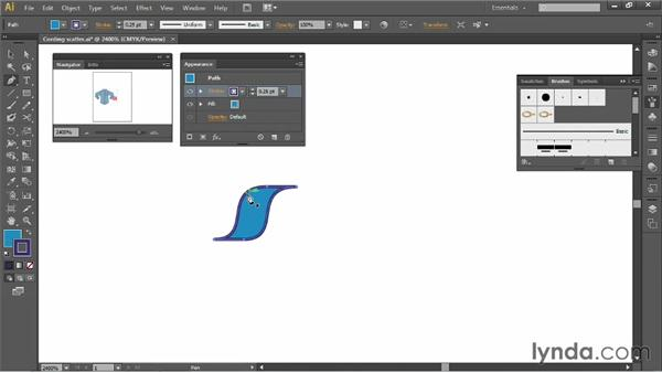 Creating cording: Illustrator for Fashion Design: Creating Brushes