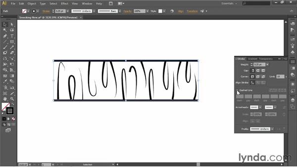 Making smocking: Illustrator for Fashion Design: Creating Brushes