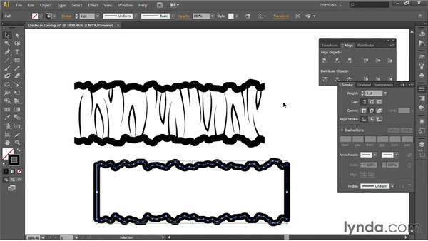 Making elastic in casing: Illustrator for Fashion Design: Creating Brushes