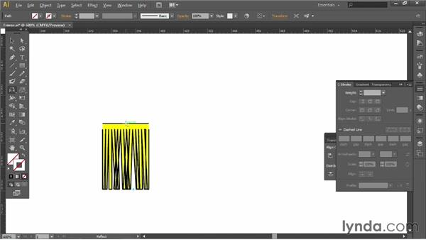 Making a fringe: Illustrator for Fashion Design: Creating Brushes