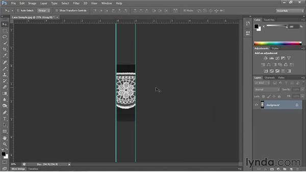 Prepping a JPEG image to use as a brush in Illustrator: Illustrator for Fashion Design: Creating Brushes