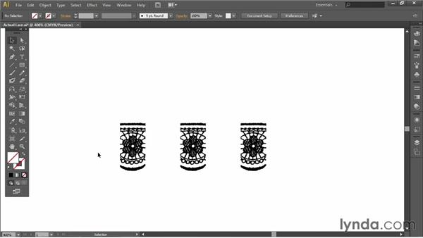 Creating lace from actual lace: Illustrator for Fashion Design: Creating Brushes