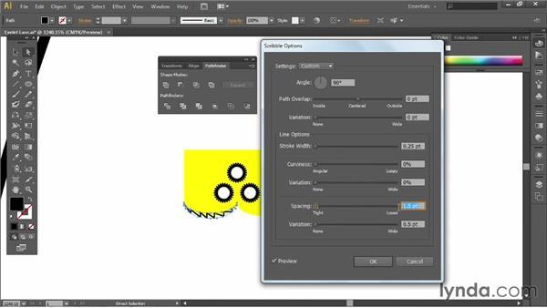 Creating eyelet lace: Illustrator for Fashion Design: Creating Brushes