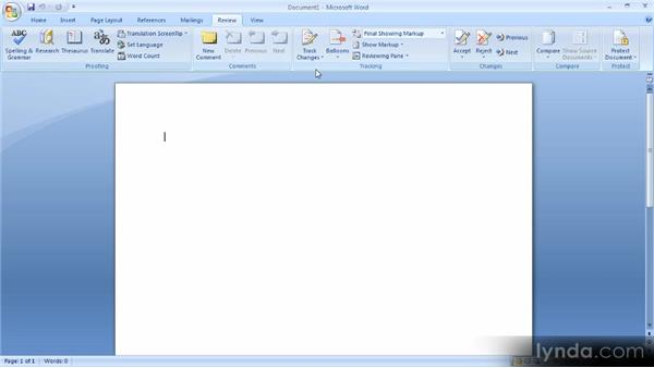 Getting familiar with Microsoft Word: Up and Running with Word 2007