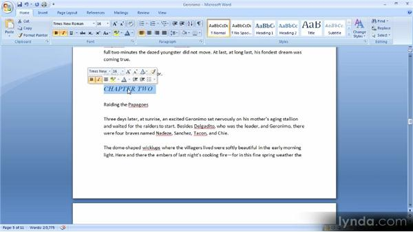 Using the Format Painter: Up and Running with Word 2007