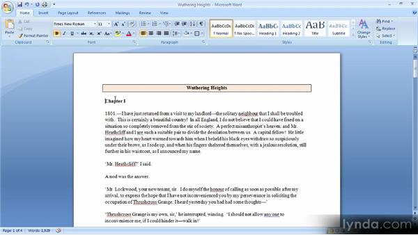 Using color and borders with paragraphs: Up and Running with Word 2007