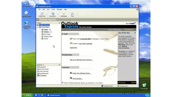 attaching files to e-mails: Learning Internet Explorer 6