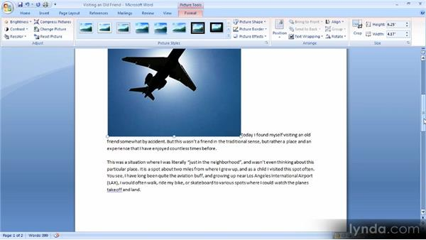 Adding images to a document: Up and Running with Word 2007