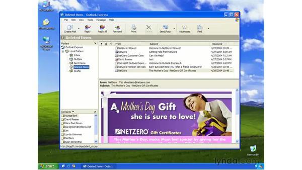 deleting messages: Learning Internet Explorer 6
