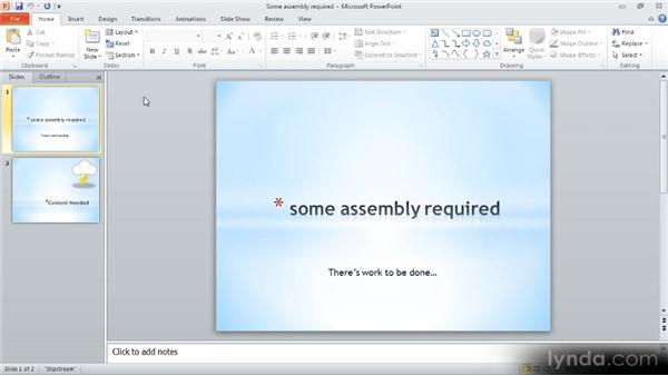 A tour of PowerPoint: Up and Running with PowerPoint 2010