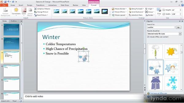 Using clip art: Up and Running with PowerPoint 2010