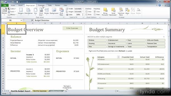 Exploring the Ribbon: Learn Excel 2010: The Basics