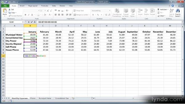 Referencing cells by row and column: Learn Excel 2010: The Basics