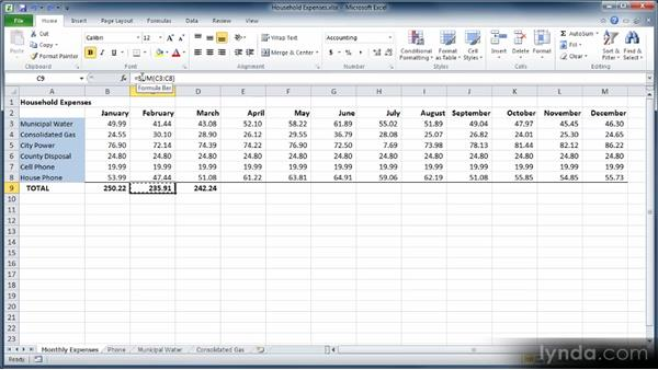 Cutting, copying, and pasting: Learn Excel 2010: The Basics