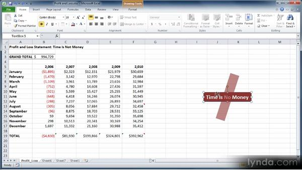 Adding comments to worksheets: Learn Excel 2010: The Basics