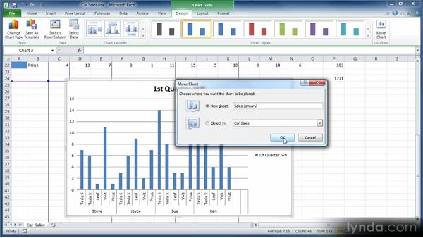 Creating charts: Learn Excel 2010: The Basics